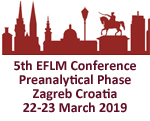 5th EFLM Conference Preanalytical Phase